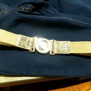 Accessories - Cool tan and faux snake skin belt with cool clasp